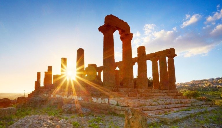 Temple of Hera in Valley of Temples (Valle dei Templi), Agrigento (Girgenti), Sicily, Italy UNESCO
