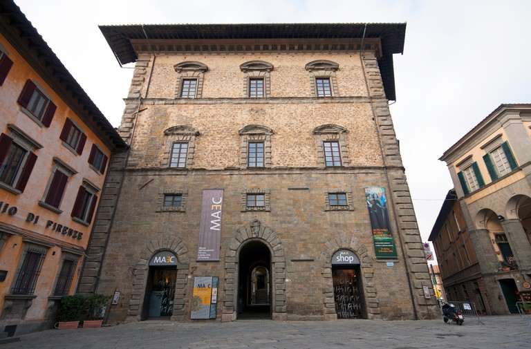 Cortona, Palazzo Casali (home of MAEC museum), Tuscany, Italy. Image shot 11/2014. Exact date unknown.