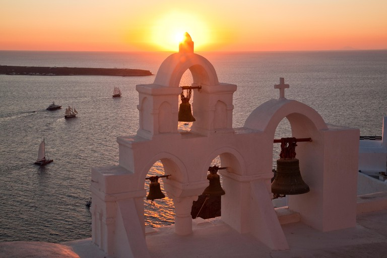 Sunset, Oia, Santorini, Greek Islands
