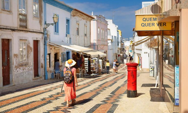 Lagos old town, Rua 25 de Abril, Lagos Municipality, Algarve, Portugal