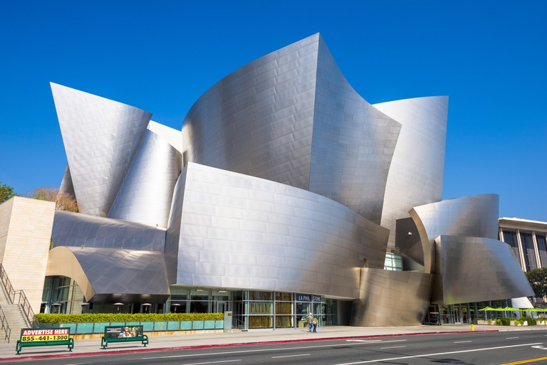 The Walt Disney Concert Hall in Los Angeles, California.