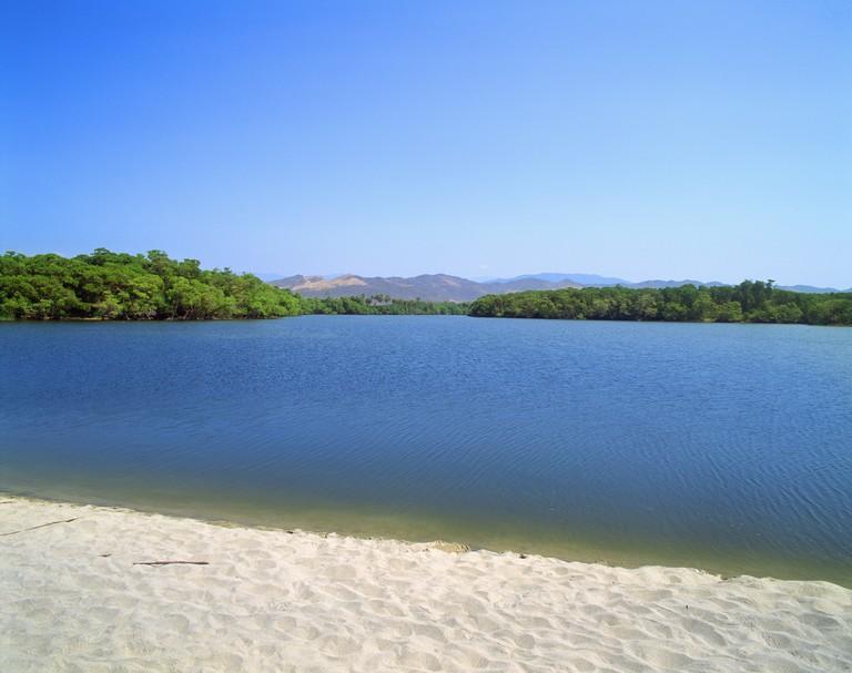 Manialtepec Lagoon in Oaxaca