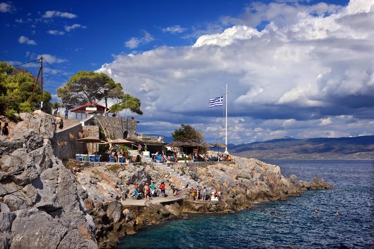 Hydroneta beach, Hydra island, Argo - Saronic gulf, Attica, Greece