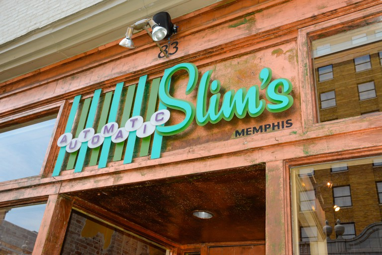 Retro Automatic Slim's, Memphis, TN, is an upscale restaurant serving American cuisine with Southern flare on South 2nd Street