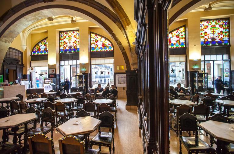 Cafe Santa Cruz, Coimbra, Portugal, Europe