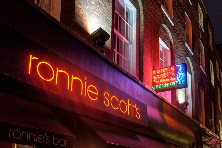 Ronnie Scott's Jazz Club on Firth Street,Soho,London,England