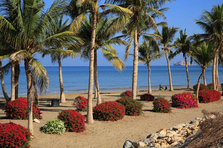 Shatti Al Qurum beach, in Muscat, capital of Oman