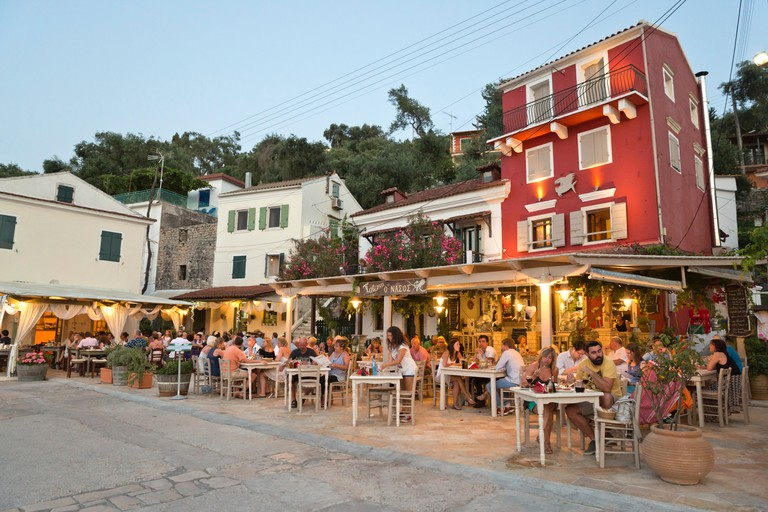 Nassos tavern, Paxos, Ionian Islands, Greek Islands, Greece