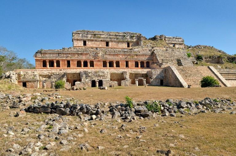 El Palacio, Grand Palace, historic Mayan city Sayil, Yucatan State, Mexico