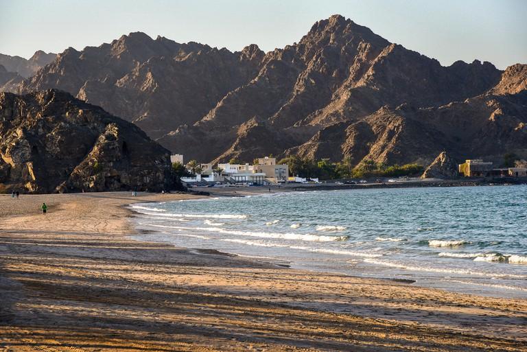 Oman Muscat Al-Bustan Palace Hotel beach