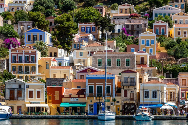 Colourful Houses, Symi Island, Dodecanese, Greece
