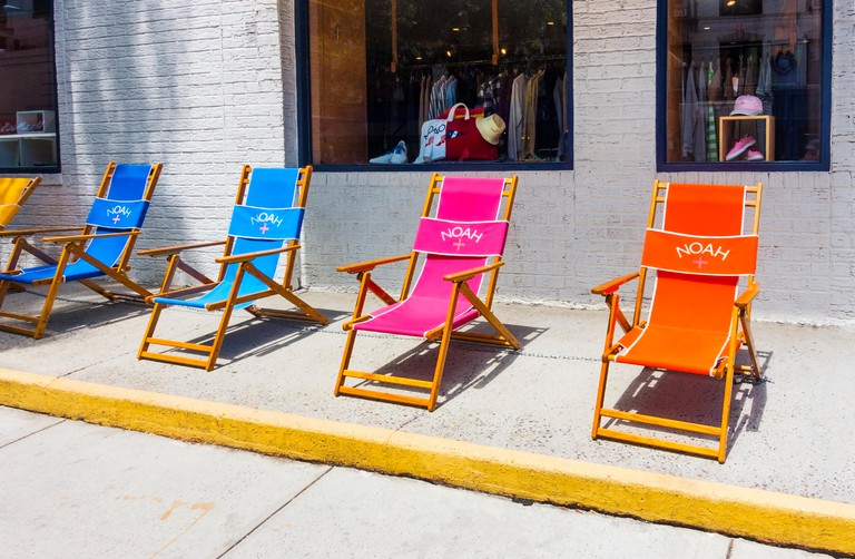 JGRA0Y The Noah boutique on Mulberry Street in Nolita in New York City