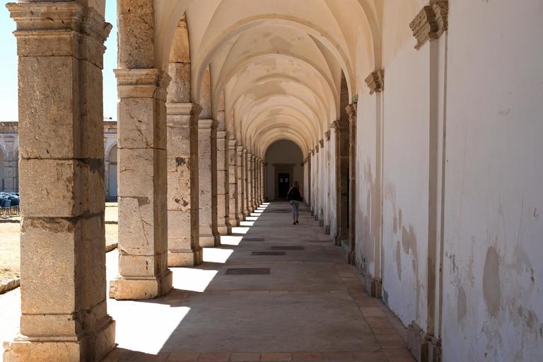 the cloister in certosa di san giacomo a carthusian monastery on the island of capri, italy.