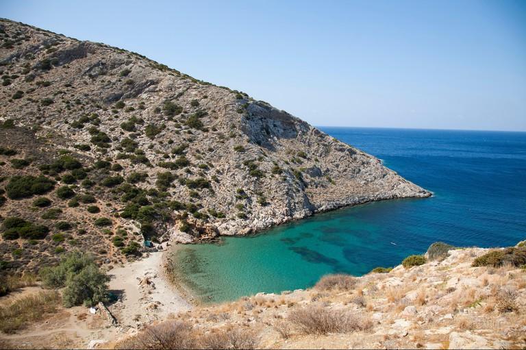 Armeos beach, Galissas area, Syros island, Cyclades, Aegean Sea, Greece, Europe