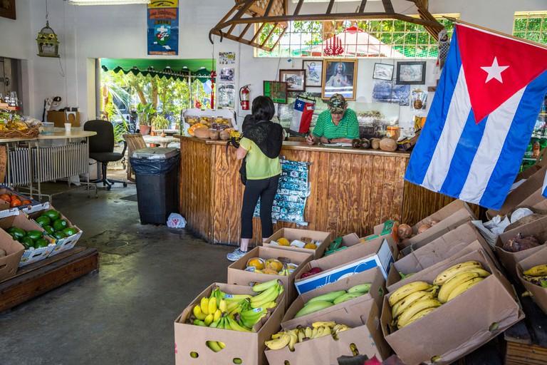 Miami, Florida.  Little Havana Cuban Fruit Store, Los Pinarenos Fruteria.