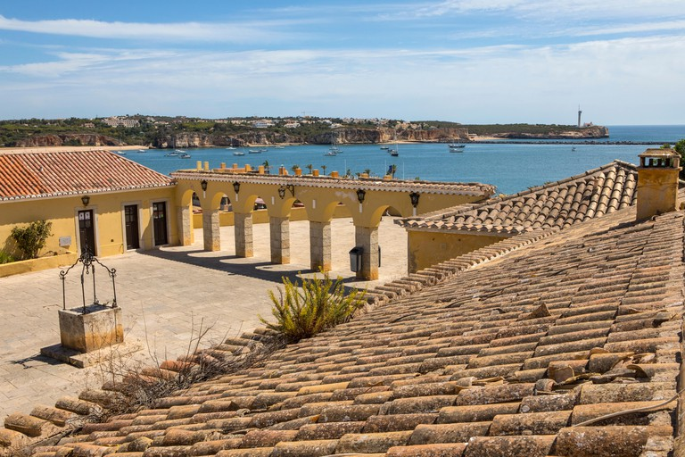 A view inside the historic Fort of Santa Catarina in Portimao, Portugal.