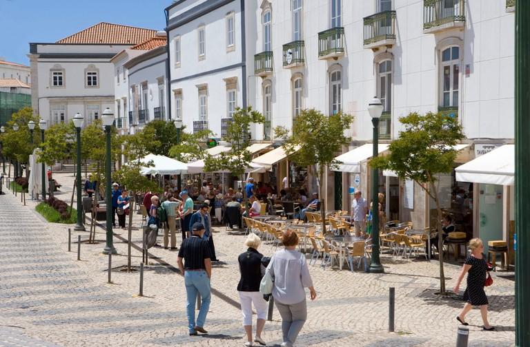 Tavira, Praca there Republica, centre, street cafes, tourists