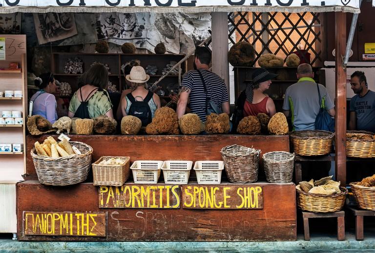 A Sponge Shop in Symi