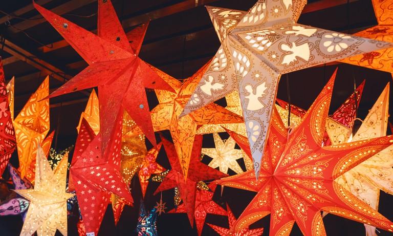 Christmas fair in the Marienplatz in Munich, Germany
