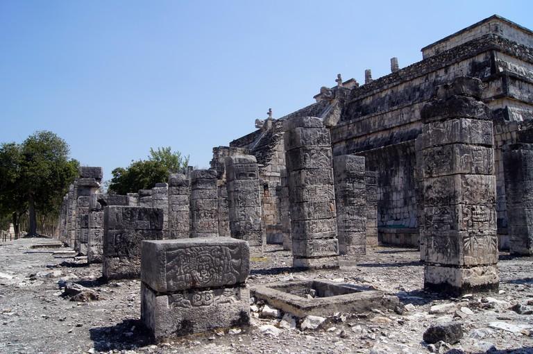 Temple of Warriors in Chichen Itza, Yucatan, Mexico