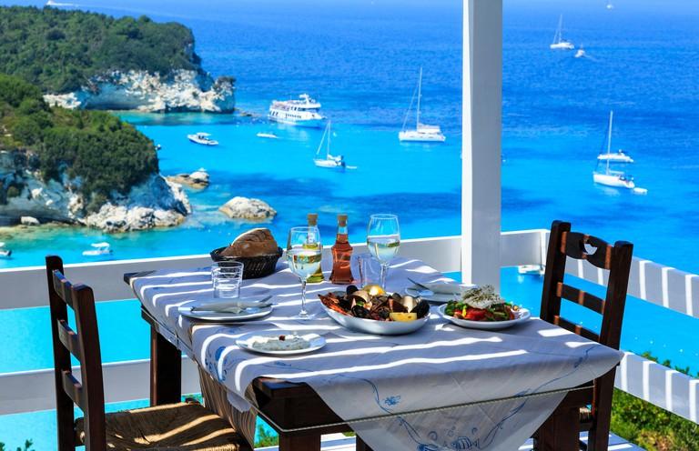 Bella Vista Taverna, Voutoumi Beach,  AntiPaxos, Greece