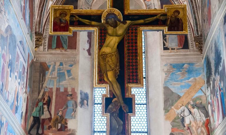 KX5NME Fresco The Legend of the True Cross by Piero della Francesca in Basilica di San Francesco, Arezzo, Tuscany