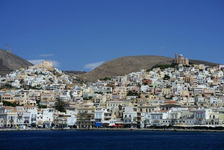 Town Ermoupolis, island Syros, Cyclades, Greece