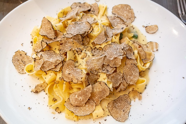 pasta with Black truffle mushroom