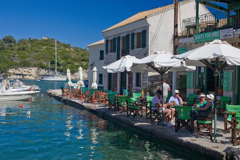 The pretty little harbourside village of Loggos, Paxos, Greece