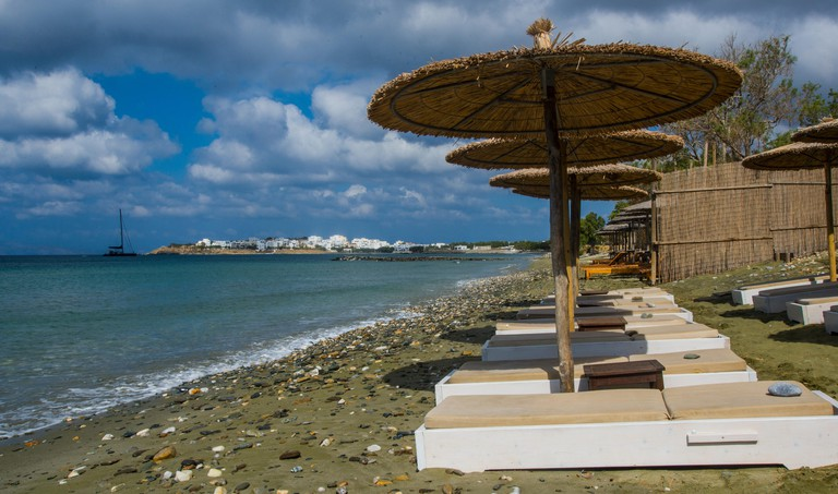 europe, greece, cyclades, tinos, island, agios fokas, beach, marathia, restaurant, hotel