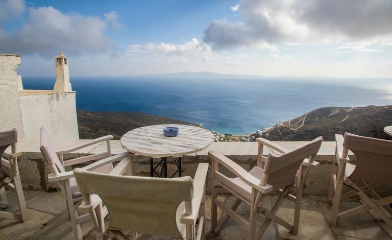 europe, greece, cyclades, tinos, island, ysternia, village, mayiou, bar, cafe