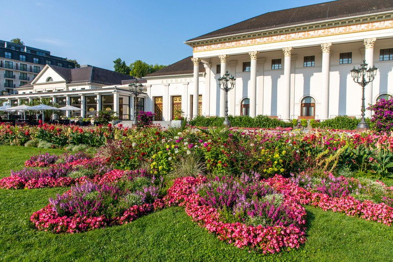 Baden-Baden, in the Black Forest, the Kurhaus, casino and event location, gastronomy. PT755D