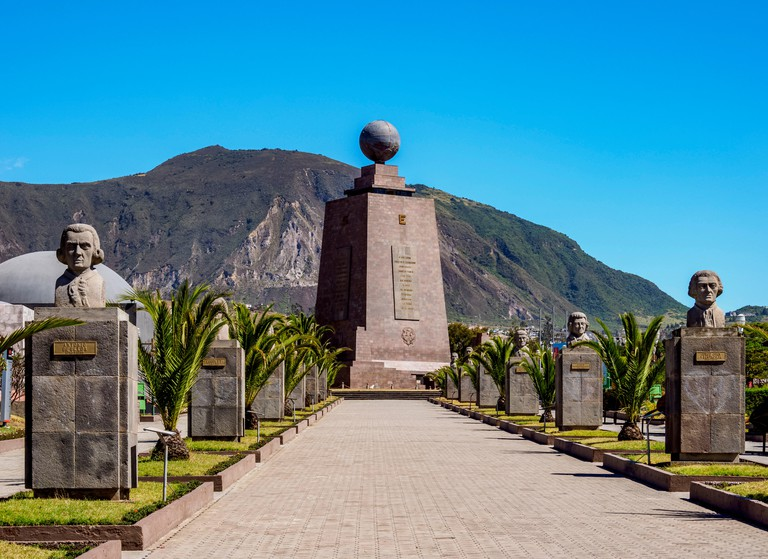 Monument to the Equator, Ciudad Mitad del Mundo, Middle of the World City, Pichincha Province, Ecuador