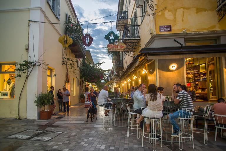 europe, greece, peloponesse, nafplio, city, allotino, cafe, bar