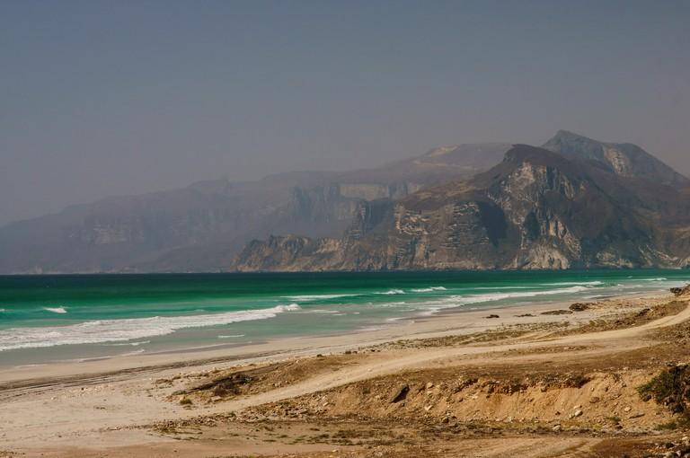 A wonderful landscape of southern Oman. Al Mughsayl beach