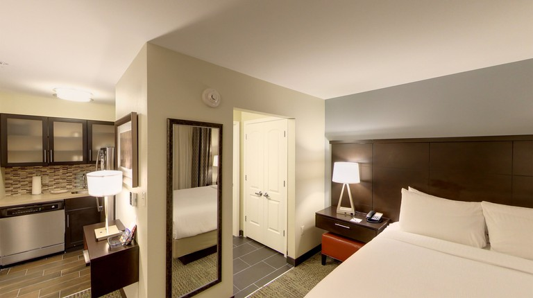 A spacious suite at the Staybridge Suites Ann Arbor