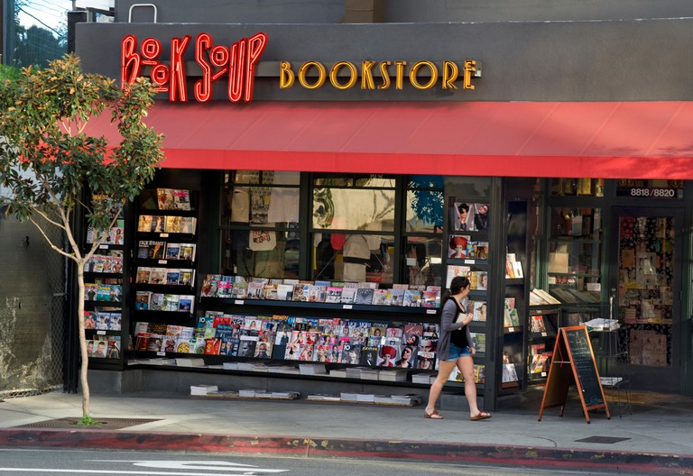 Book Soup bookstore on Sunset Strip in West Hollywood