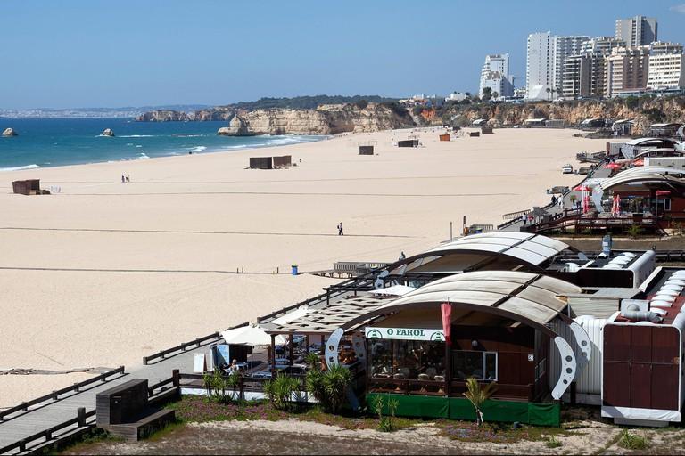 Praia Da Rocha in Early Spring in Portimao, Portugal
