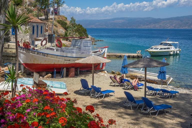 Greece, Saronic Islands, Hydra, Mandraki beach