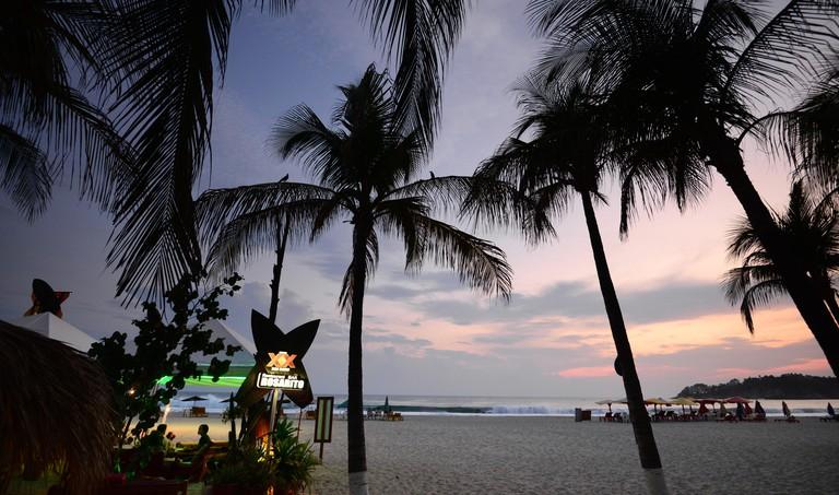 Zicatela beach, Puerto Escondido, Pacific coast, Mexico