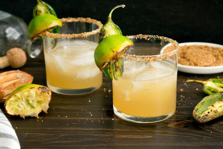 Charred Lime & Jalapen~o Margaritas