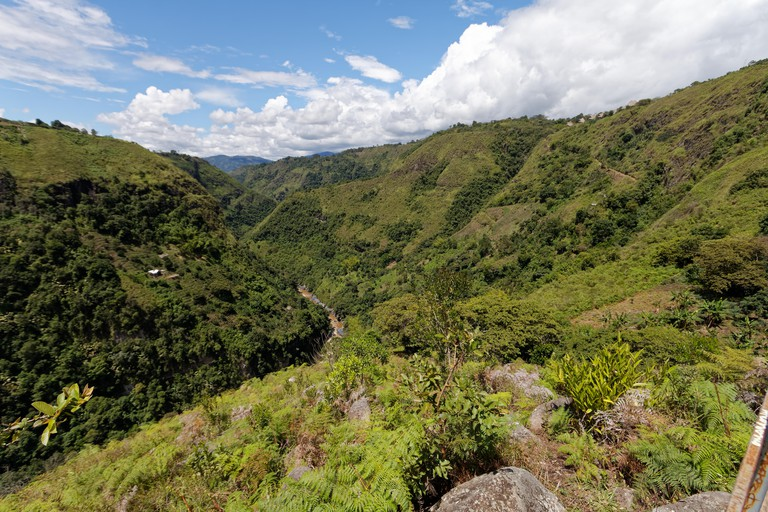 Valley of river Magdalena in San Agustin, Colombia