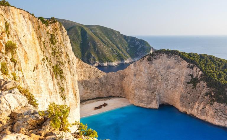 Zakynthos island Greece shipwreck Navagio beach travel vacation travel.