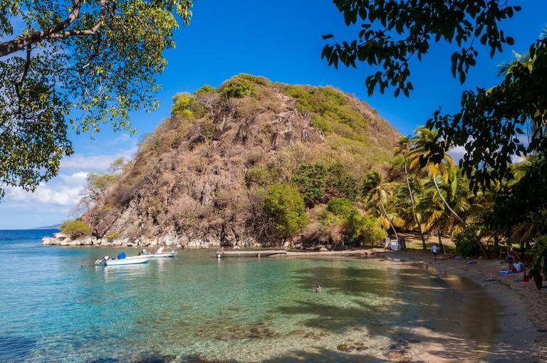 France Guadeloupe (French West Indies) Les Saintes Archipelago Terre de Haut Pain de Sucre (Sugarloaf) beach