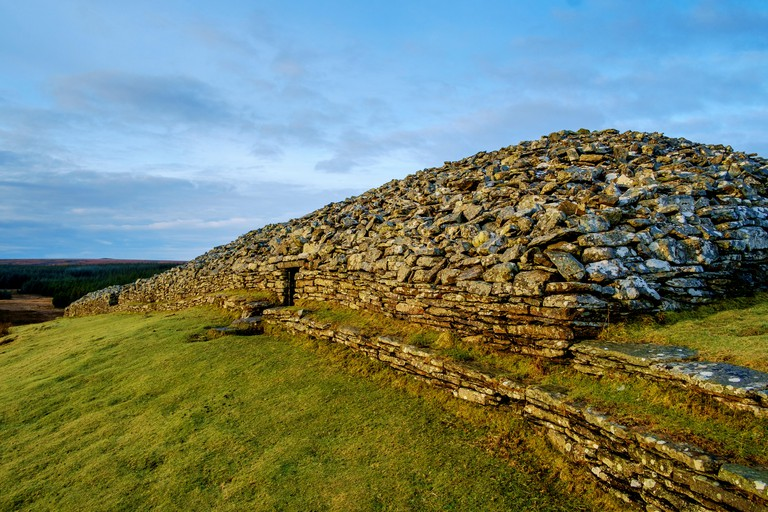 The Grey Cairns of Camster are two large Neolithic chambered cairns located in Caithness, Highlands of Scotland