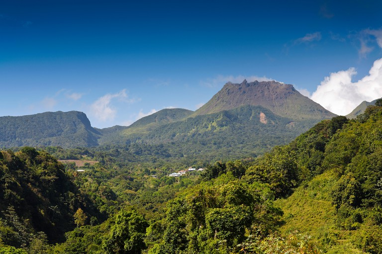 La Soufriere, an active volcano and the highest peak of Guadeloupe, Lesser Antilles, Caribbean
