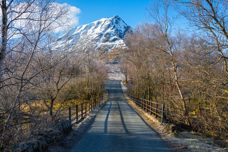 Sron na Creise from the Glen Etive road, Rannoch Moor, Highland Region, Scotland, UK