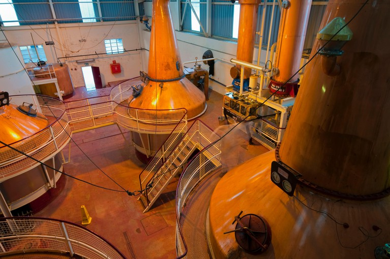 UK, Scotland, Fort William, Ben Nevis Whisky Distillery, Copper Stills  (Property Released)