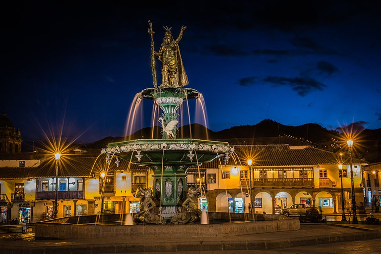 City plaza by night, Cusco © Martin Lang/WikiCommons