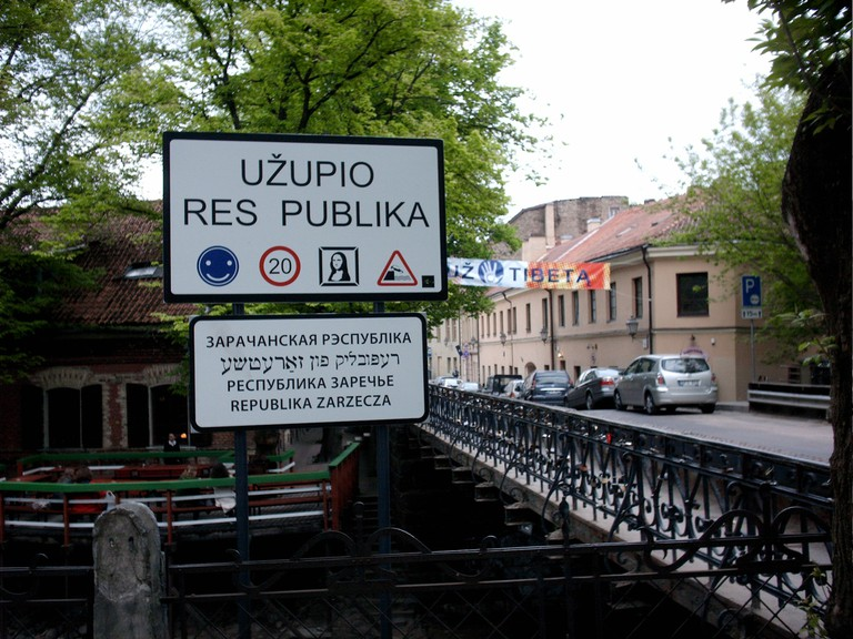 Entering the Republic of Užupis